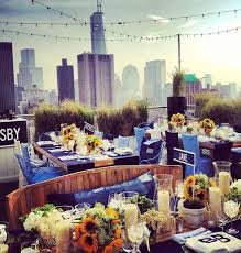 rooftop dining wedding