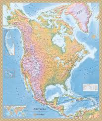 United States Geographical Map by North America Physical Map High Detailed North America Physical