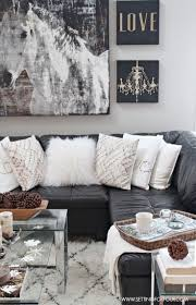 Grey And White Wall Decor Best 25 Black Leather Couches Ideas On Pinterest Black Leather