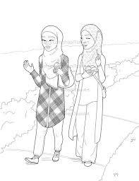 45 hijabi coloring pages images muslim
