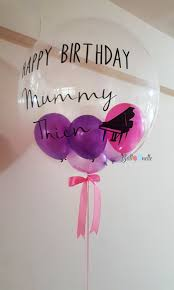personalised birthday balloons personalised 24 pastel balloons with stuffed 6