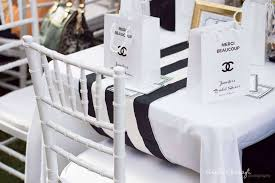 Bridal Shower Chair Chanel Inspired Bridal Shower Party Bridal Shower Ideas Themes