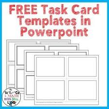 Make Own Cards Free - 18 best free task card templates images on pinterest card