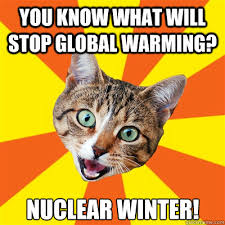 Global Warming Meme - you know what will stop global warming cat meme cat planet