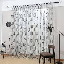 100 Curtains Modern Sheer Curtain Panels 60 X 100 Inch Tall Window Treatments