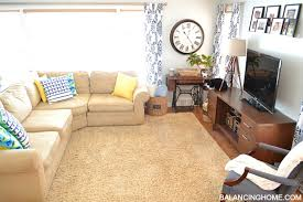 Pottery Barn 3 Piece Sectional Spruced Up Living Room U0026 New Arrangement Balancing Home With