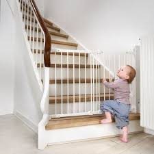 babydan flexi fit stair gate diagonal fit baby guard white safety