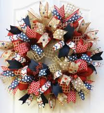 4th of july wreaths patriotic wreath 4th of july wreath burlap patriotic wreath