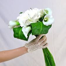 fleurs blanches mariage bouquet de mariée artificiel original blanc vert bouquets de