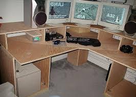 Build Your Own Corner Desk Build Your Own Computer Desk Plans Diy Multi Level Computer Corner