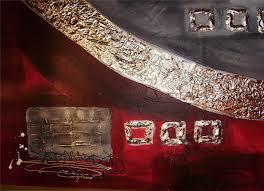 Tableau Abstrait Rouge Et Gris by