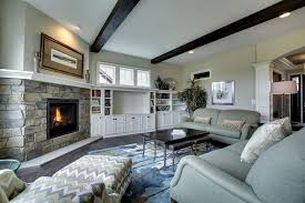 Traditional Family Room With Carpet  Hardwood Floors In North - Family room carpet