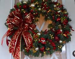 lighted christmas wreath wreath etsy
