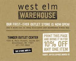 Pottery Barn Online Coupons West Elm Warehouse West Elm