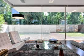 concept glass and concrete home design at open block house modern
