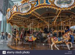 new york city ny usa dumbo merry go roundabout