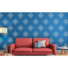 buds and blossoms asian paints wall fashion stencil buy online