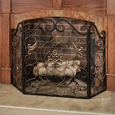 pleasant hearth waverly 3 panel fireplace screen in colonial brown