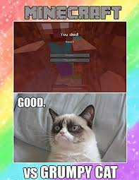 Original Grumpy Cat Meme - grumpy cat vs minecraft original meme book by mimi meme