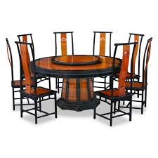 chinese inspired dining room furniture featured round table and 8