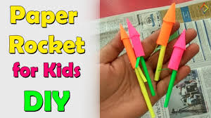 paper rocket for kids diy paper crackers for kids diwali