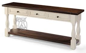 Distressed Sofa Table by Hoot Judkins Furniture San Francisco San Jose Bay Area Whitewood