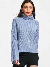 turtle neck sweaters chunky turtleneck sweater blue sweaters one size zaful