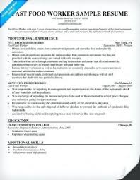 food service resume best solutions of food service worker resume fast food worker resume