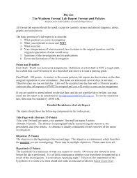 scientific report template formal lab report template physics 7 formal lab report template