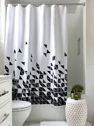 Black White Shower Curtain Bathroom Category Endearing Cast Iron Clawfoot Tub Applied To