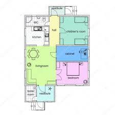blueprint floor plan floor plan of a modern apartment colorful 2d vector blueprint