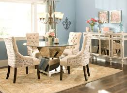 White Leather Dining Chairs With Nailheads Tufted Dining Room Chair U2013 Adocumparone Com