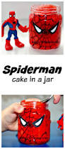 spiderman cake in a jar messy little monster