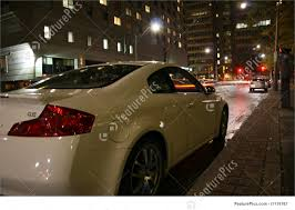 rear right corner view white g35 coupe stock picture i1119767 at