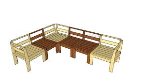 How To Build Patio Furniture Corner Outdoor Sectional Plans Howtospecialist How To Build