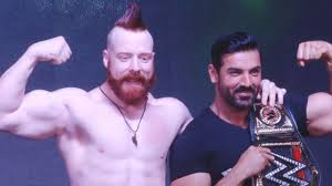 john abraham u0026 wwe star sheamus promote force 2 youtube