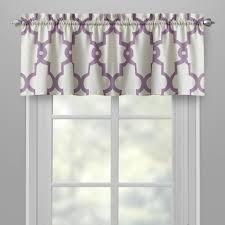 tailored purple trellis window valances set of 2 christmas tree