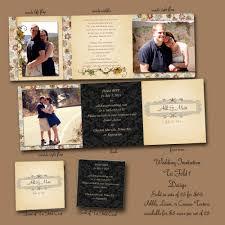 Tri Fold Wedding Program Tri Fold Wedding Invitations Cloveranddot Com