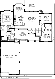 Corner Lot Floor Plans Ranch Traditional House Plan 73141 Level One Traditional House