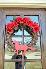 Kentucky Derby Decorations Kentucky Derby Wreath Diy Spring Wreath