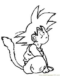 goku 8 coloring page free goku coloring pages coloringpages101 com
