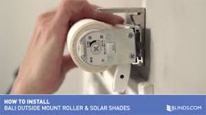 Installing Bali Blinds How To Install Bali Cordless Solar And Roller Shades Outside