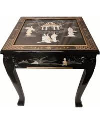 cing table with storage slash prices on dragon leg oriental end table inlaid pearl black