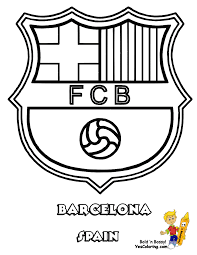 barcelona logo coloring page 4 the art mad
