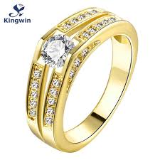 gold fine rings images Fine yellow or rose gold color engagement rings women cz zircon jpg