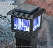 Solar Light For Fence Post - aurora polaris solar lighting post caps for aluminum and iron fence