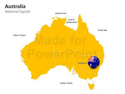 australia map capital cities australia map template for powerpoint