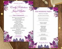 print at home wedding programs printable wedding programs editable template diy instant