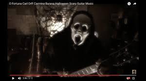 halloween continuous background halloween scary guitar music o fortuna carl orff carmina burana