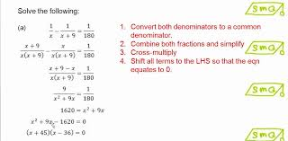solving fractional equations that can be reduced to quadratic equations
